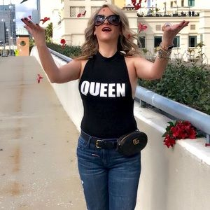 Tops - NWOT: QUEEN bodysuit